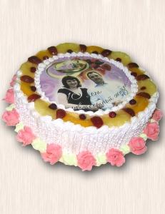 """Фото-торт № 22 """"Розовая свадьба"""""""
