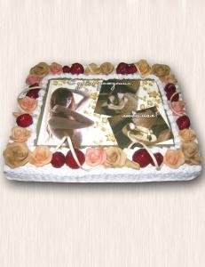 """Фото-торт № 47 """"Для любимой"""""""