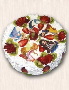 """Фото-торт № 52 """"Пять принцесс"""""""