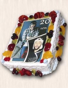 """Фото-торт № 53 """"20 лет..."""""""