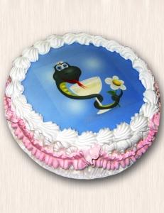 """Фото-торт № 15 """"Змея"""""""