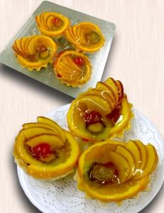 Корзиночка с желе и фруктами (4 шт.)