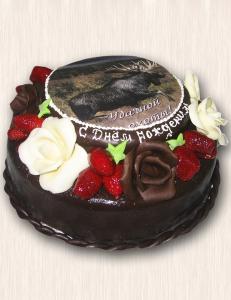 "Фото-торт № 43 ""Охотнику в подарок"""
