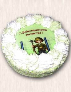 """Фото-торт № 05 """"С Днем защитника отечества"""""""