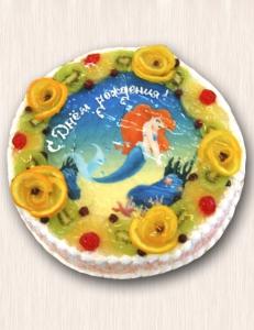 "Фото-торт № 10 ""Русалочка"""