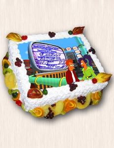 """Фото-торт № 31 """"Футурама"""""""