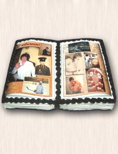"""Фото-торт № 41 """"Книга. Юбилейный альбом"""""""