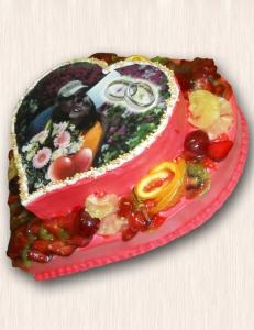 """Фото-торт № 49 """"Сердце"""""""