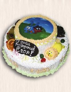 """Фото-торт № 13 """"Смешарики"""""""