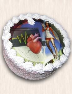 """Фото-торт № 16 """"Медсестра"""""""